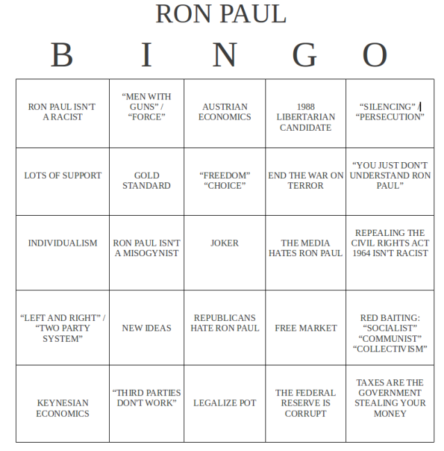 Let's talk about Ron Paul!